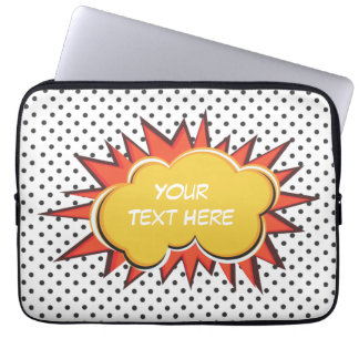 Comic Explosion Laptop Computer Sleeve