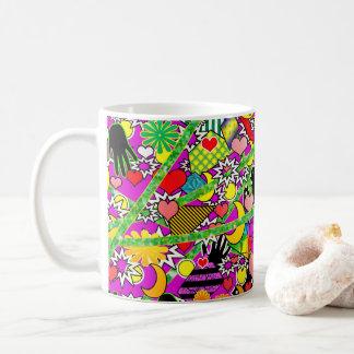 Comic Fun Mug - Brighten Your Day - Vivid Colors