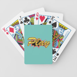 Comic Girl Bicycle Playing Cards