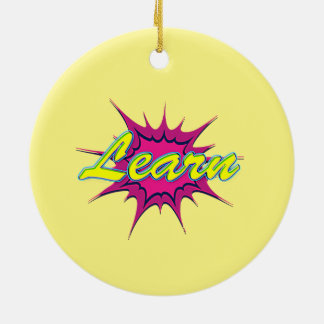 Comic Girl Ceramic Ornament