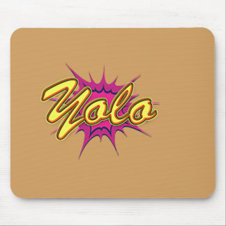 Comic Girl E Yolo. 136x136@3x 408x408 Mouse Pad