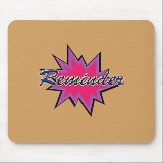 Comic Girl Mouse Pad
