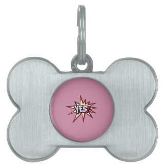 Comic Girl Pet ID Tag