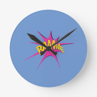 Comic Girl Round Clock