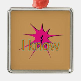 Comic Girl Silver-Colored Square Ornament