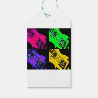 COMIC GUITAR ART PACK OF GIFT TAGS
