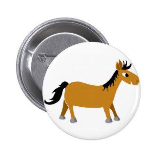 Comic horse 2 inch round button