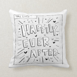Comic inspired Happily Ever After Throw Pillow