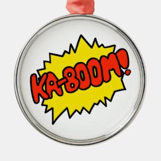 Comic 'Ka-Boom!' Christmas Tree Ornaments