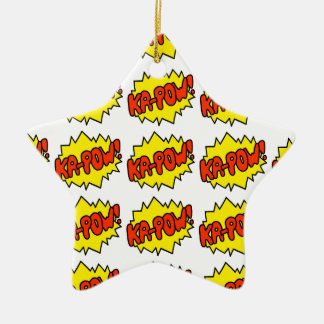 Comic 'Ka-Pow!' Ceramic Star Ornament