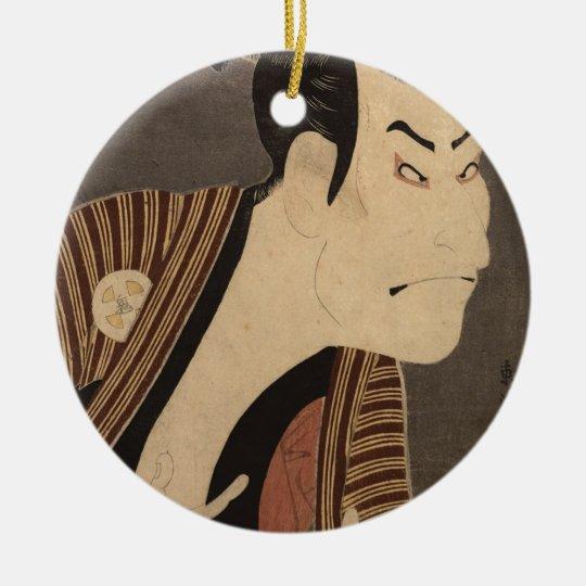 Comic Kabuki Actor Ceramic Ornament