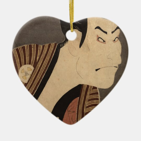 Comic Kabuki Actor Ceramic Ornament