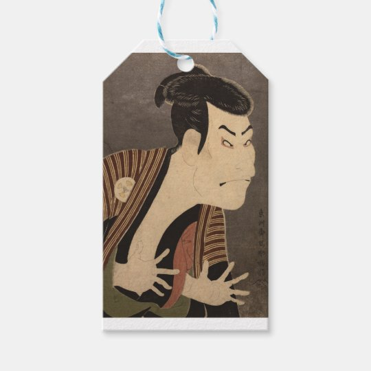 Comic Kabuki Actor Gift Tags