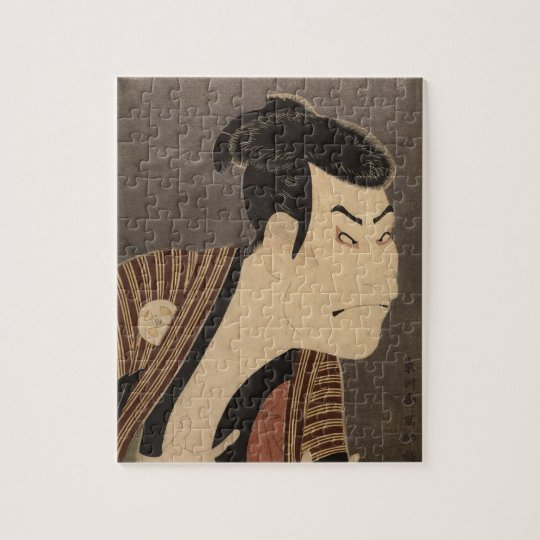 Comic Kabuki Actor Jigsaw Puzzle