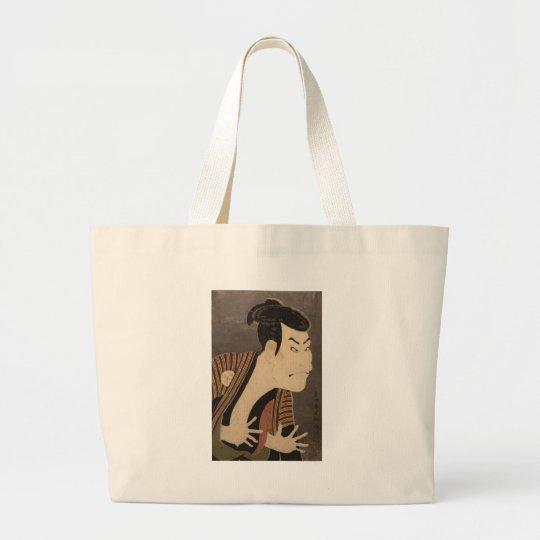 Comic Kabuki Actor Large Tote Bag