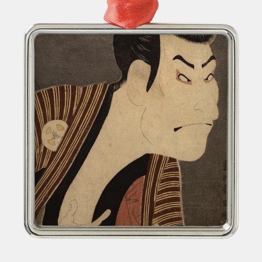 Comic Kabuki Actor Metal Ornament
