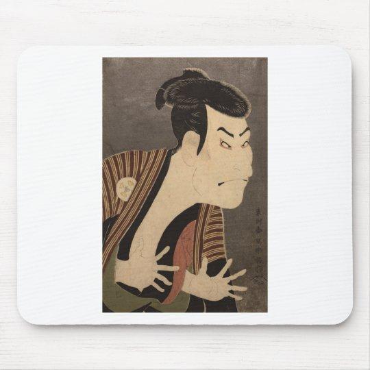Comic Kabuki Actor Mouse Pad