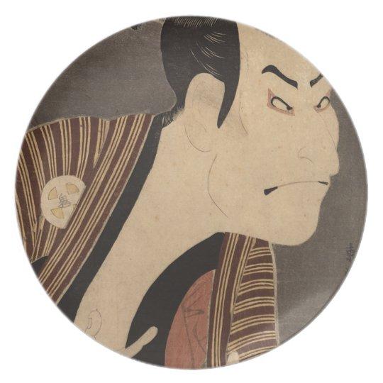 Comic Kabuki Actor Plate