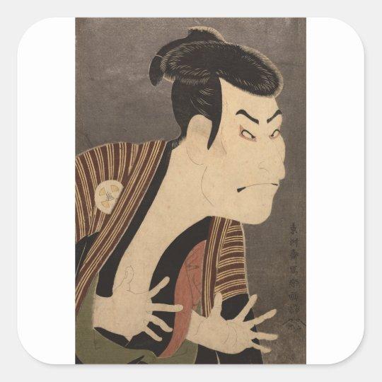 Comic Kabuki Actor Square Sticker