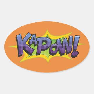 Comic KaPow! Oval Sticker