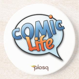 Comic Life Sandstone Drink Coaster