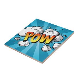 "Comic Line - ""POW "" Tile"