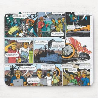 comic pad mouse pad