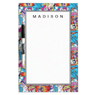 Comic Pattern Dry Erase Board