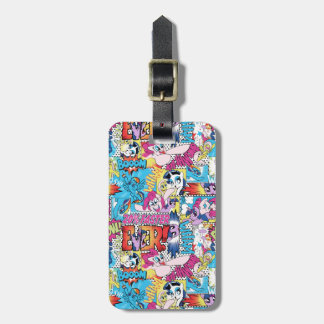 Comic Pattern Luggage Tag