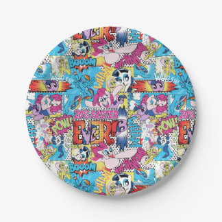 Comic Pattern Paper Plate
