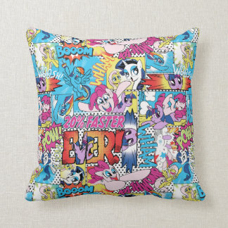 Comic Pattern Throw Pillow