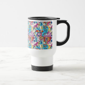 Comic Pattern Travel Mug