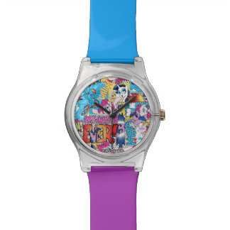 Comic Pattern Watch