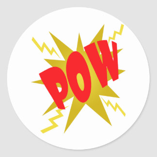 COMIC POW! CLASSIC ROUND STICKER