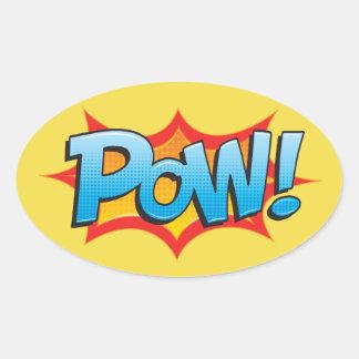 Comic Pow! Oval Sticker