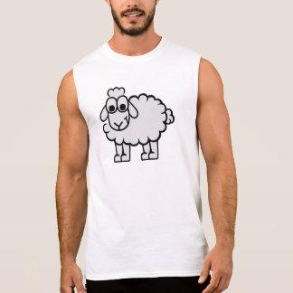 Comic sheep sleeveless shirt