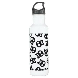 Comic Skull black pattern 710 Ml Water Bottle