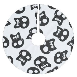 Comic Skull black pattern Brushed Polyester Tree Skirt