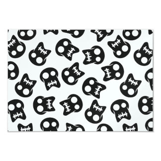 Comic Skull black pattern Card