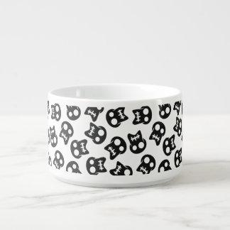 Comic Skull black pattern Chili Bowl