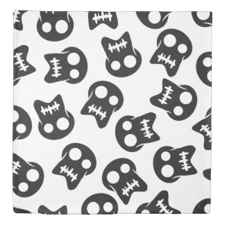 Comic Skull black pattern Duvet Cover