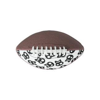 Comic Skull black pattern Football