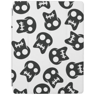 Comic Skull black pattern iPad Cover