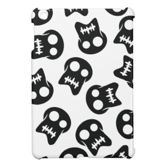 Comic Skull black pattern iPad Mini Cover