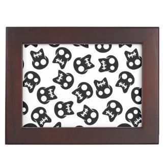 Comic Skull black pattern Keepsake Box