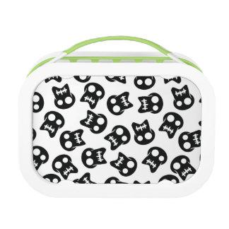 Comic Skull black pattern Lunch Box