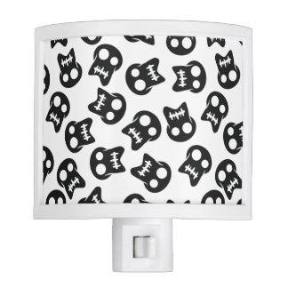 Comic Skull black pattern Nite Light