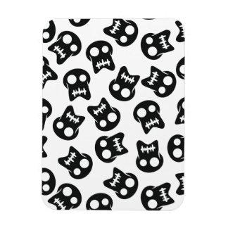 Comic Skull black pattern Rectangular Photo Magnet