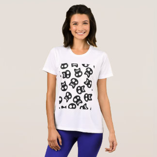 Comic Skull black pattern T-Shirt