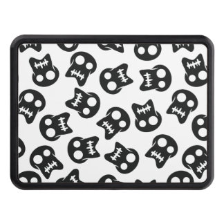 Comic Skull black pattern Trailer Hitch Cover